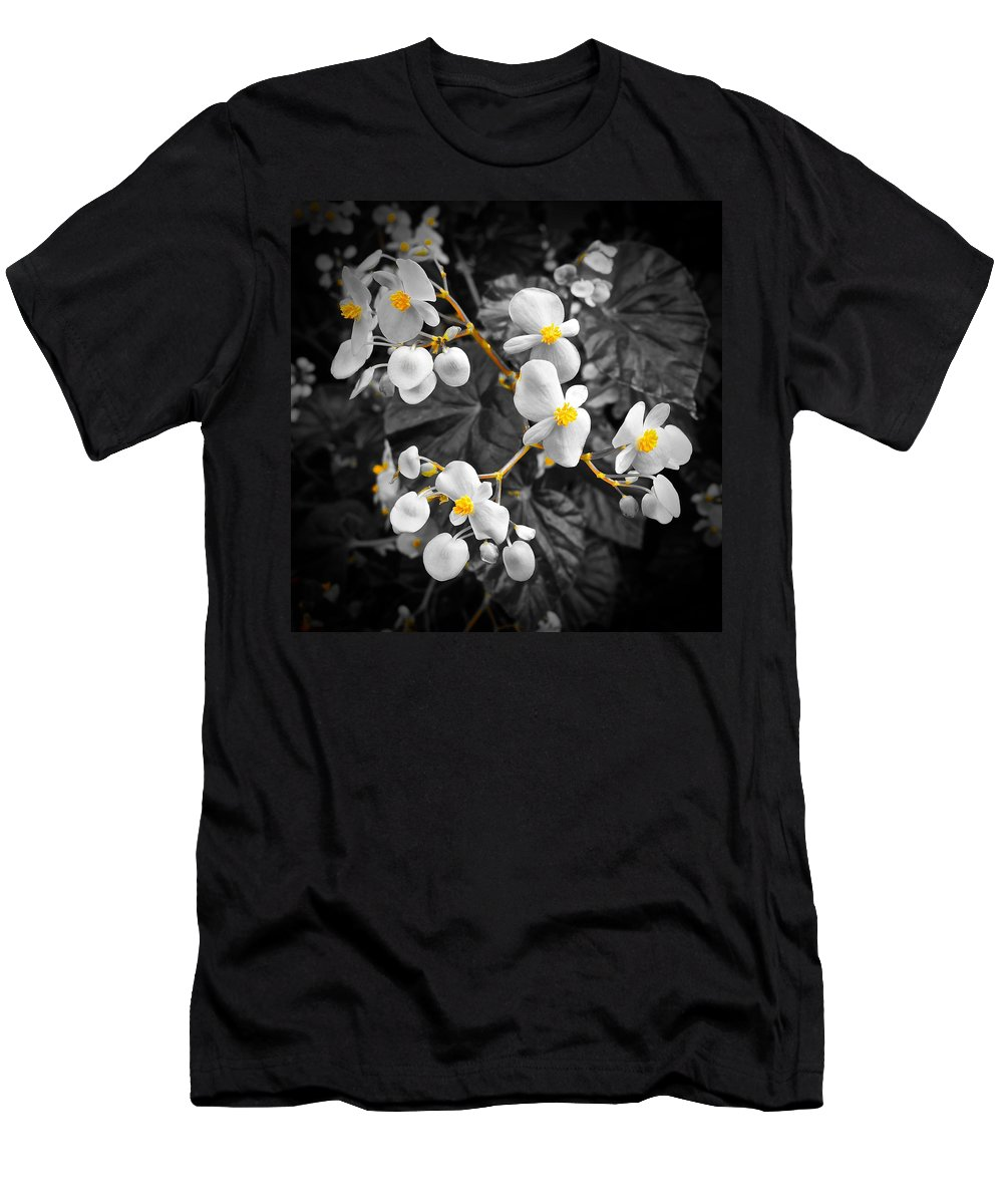 Monochrome Men's T-Shirt (Athletic Fit) featuring the photograph Flow Of Gold by Tim G Ross