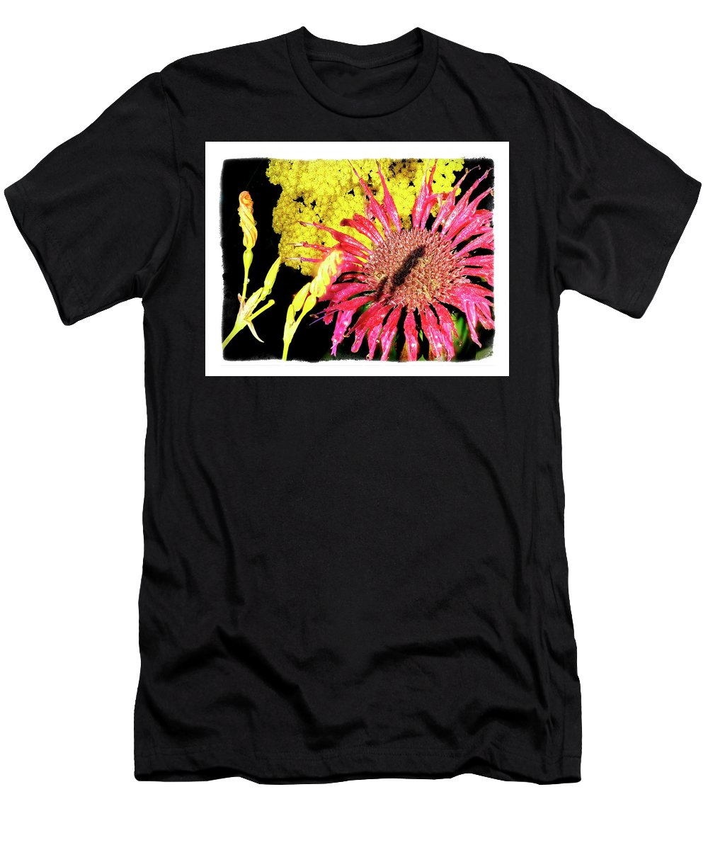 Detail Men's T-Shirt (Athletic Fit) featuring the photograph Flower 23af, Ny, 16 by Richard Xuereb