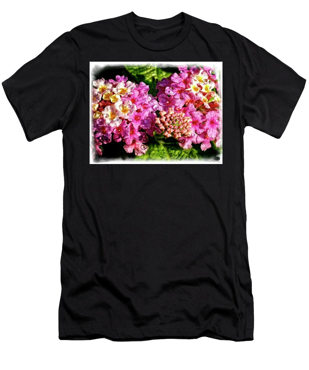 Men's T-Shirt (Athletic Fit) featuring the photograph Flower 23f, Ny, 16 by Richard Xuereb