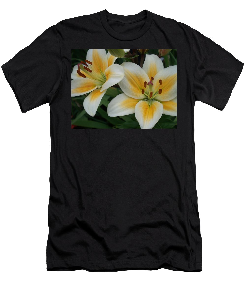 Flower Men's T-Shirt (Athletic Fit) featuring the photograph Flower Close Up 2 by Anita Burgermeister