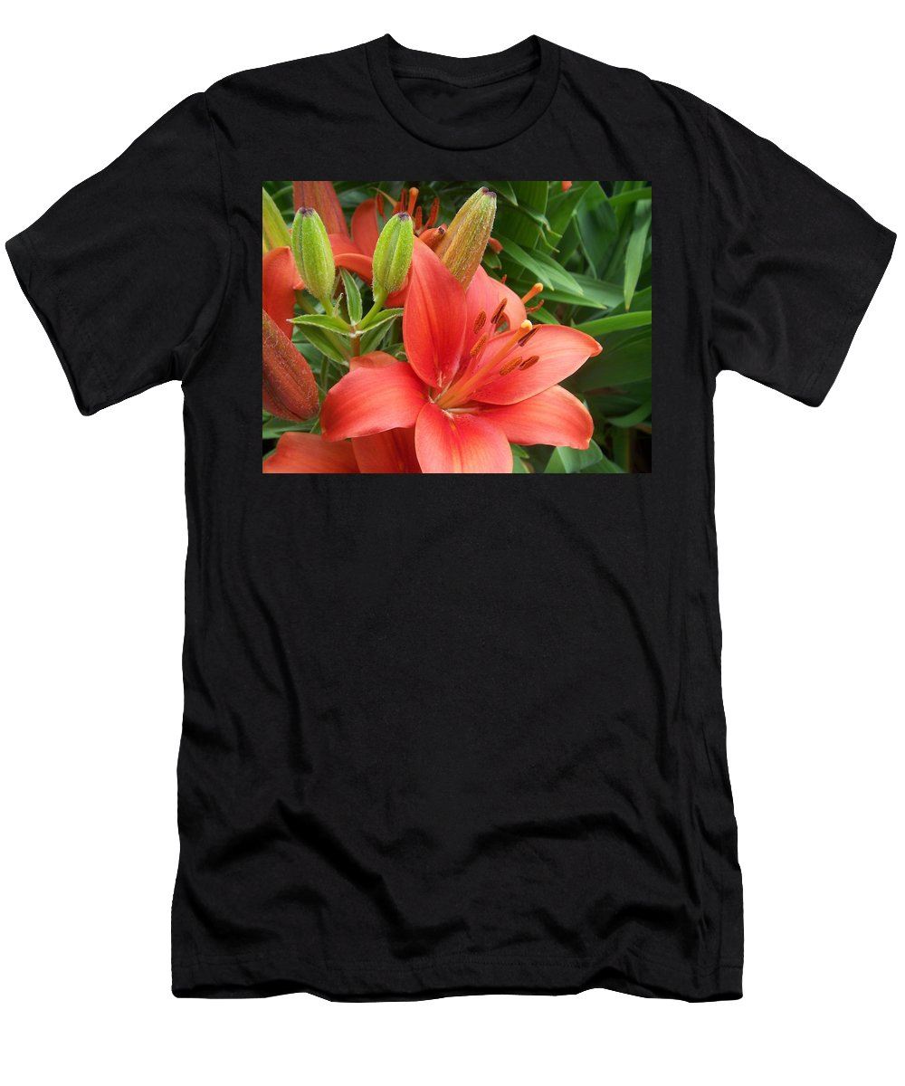 Flower Men's T-Shirt (Athletic Fit) featuring the photograph Flower Close Up 4 by Anita Burgermeister
