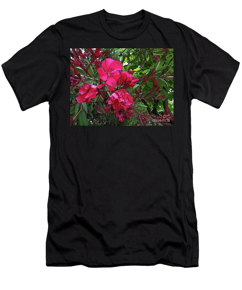 Flowers. Colour. Color Men's T-Shirt (Athletic Fit) featuring the digital art Flower Fest by Don Pedro DE GRACIA