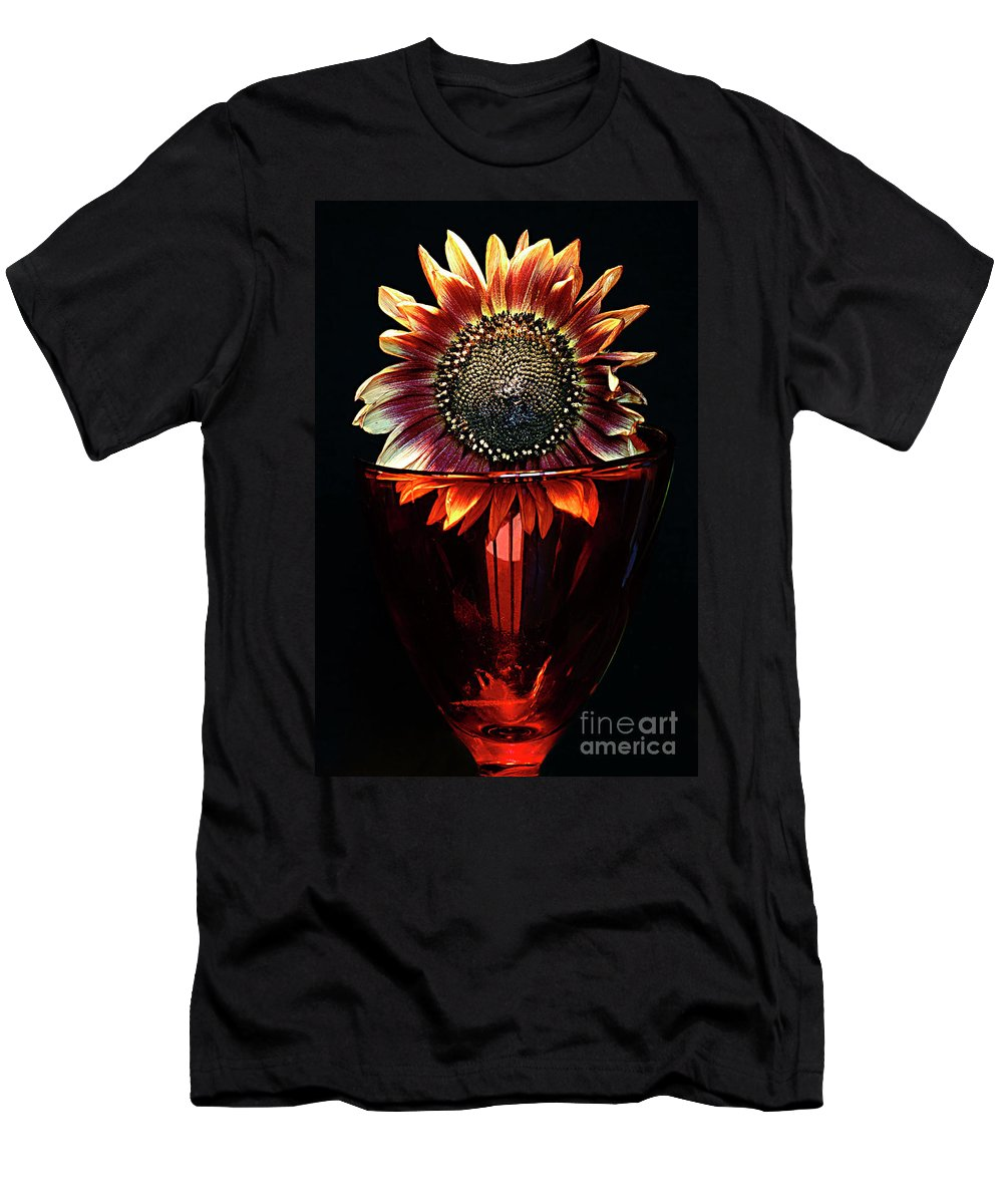Sunflower Men's T-Shirt (Athletic Fit) featuring the photograph Flower For Foodie #3. by Alexander Vinogradov