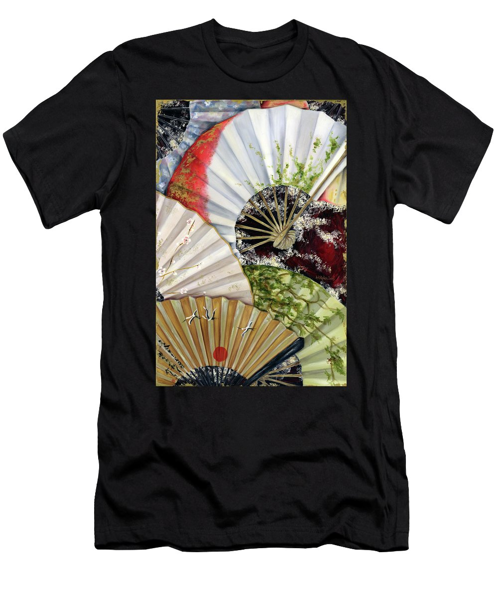 Japanese Men's T-Shirt (Athletic Fit) featuring the painting Flower Garden by Hiroko Sakai