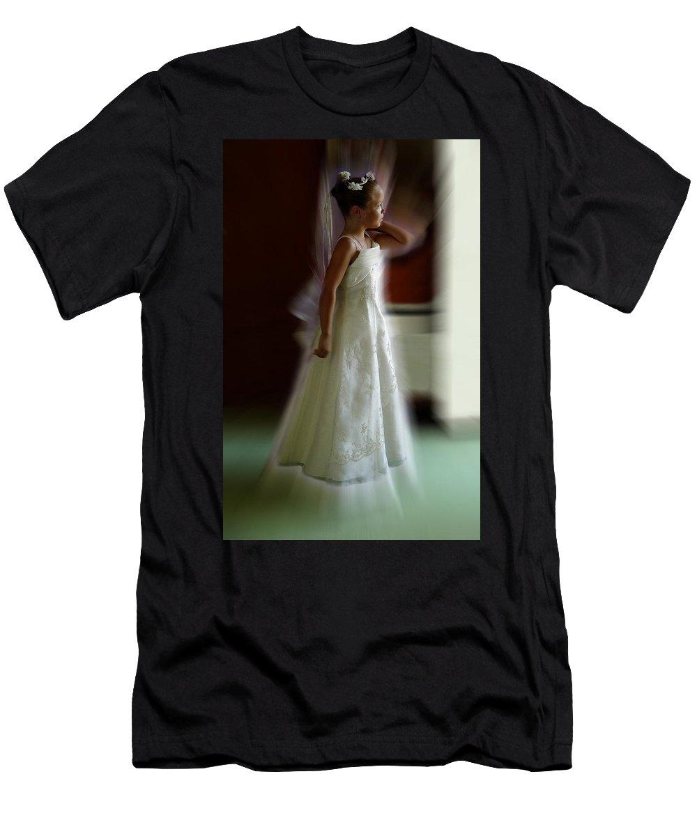 Flower Girl Men's T-Shirt (Athletic Fit) featuring the photograph Flower Girl by Peter Piatt