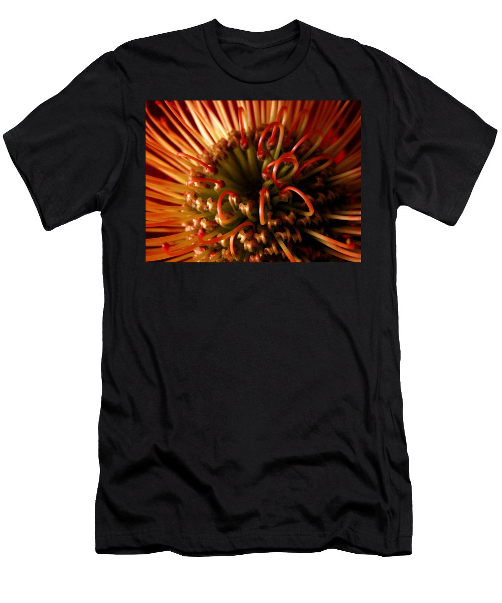 Protea Men's T-Shirt (Athletic Fit) featuring the photograph Flower Hawaiian Protea by Nancy Griswold