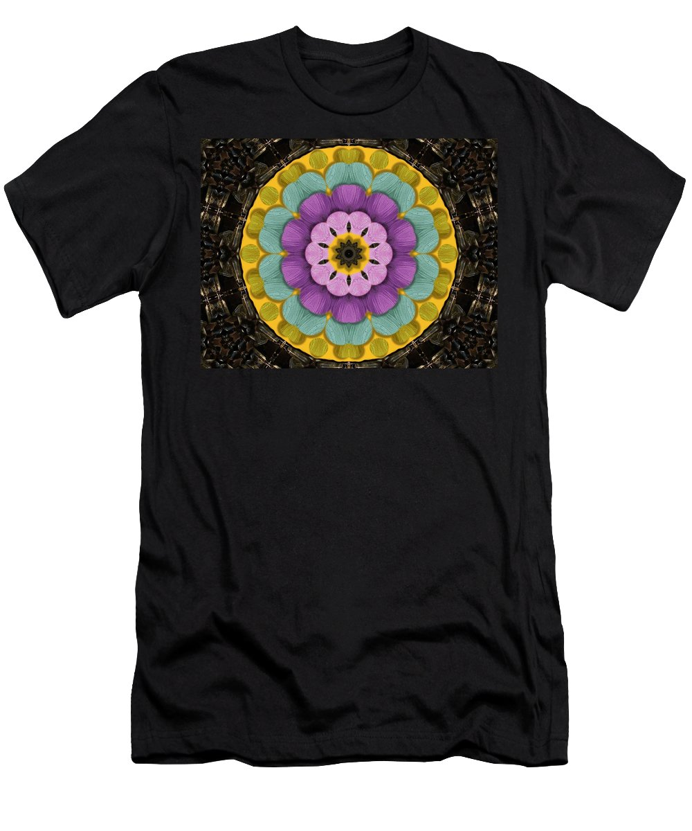 Flower Men's T-Shirt (Athletic Fit) featuring the mixed media Flower In Paradise by Pepita Selles