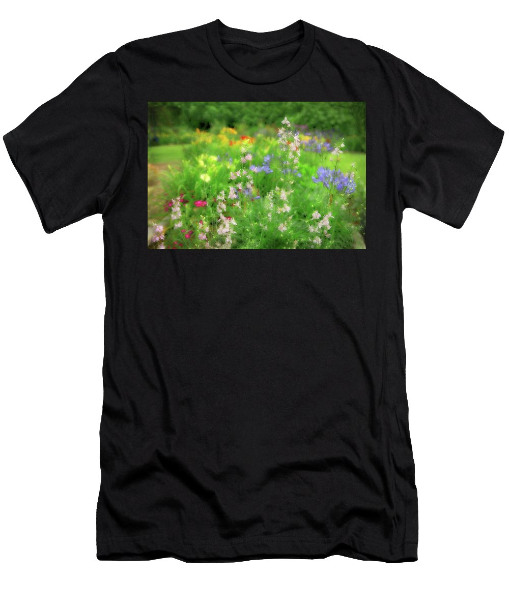 Flowers Men's T-Shirt (Athletic Fit) featuring the photograph Flower Mosaic by Artie Rawls