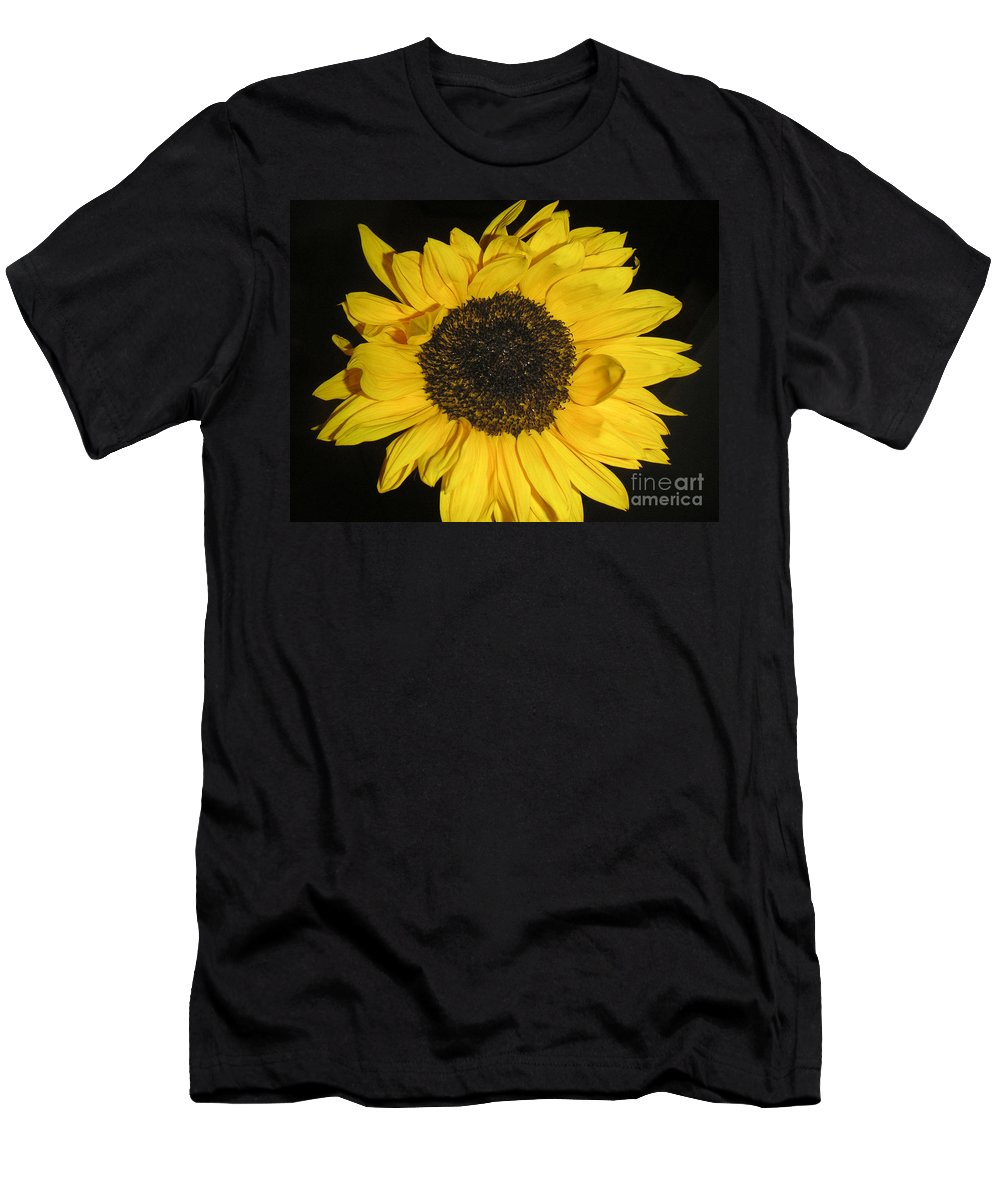 Nature Men's T-Shirt (Athletic Fit) featuring the photograph Flower Of The Sun by Lucyna A M Green