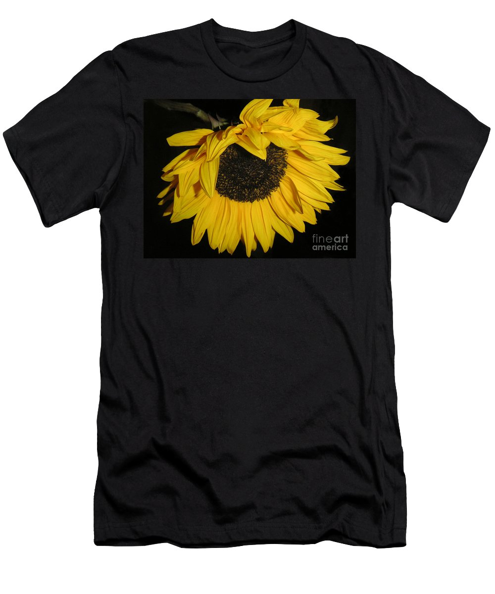 Nature Men's T-Shirt (Athletic Fit) featuring the photograph Flower Of The Sun Too by Lucyna A M Green