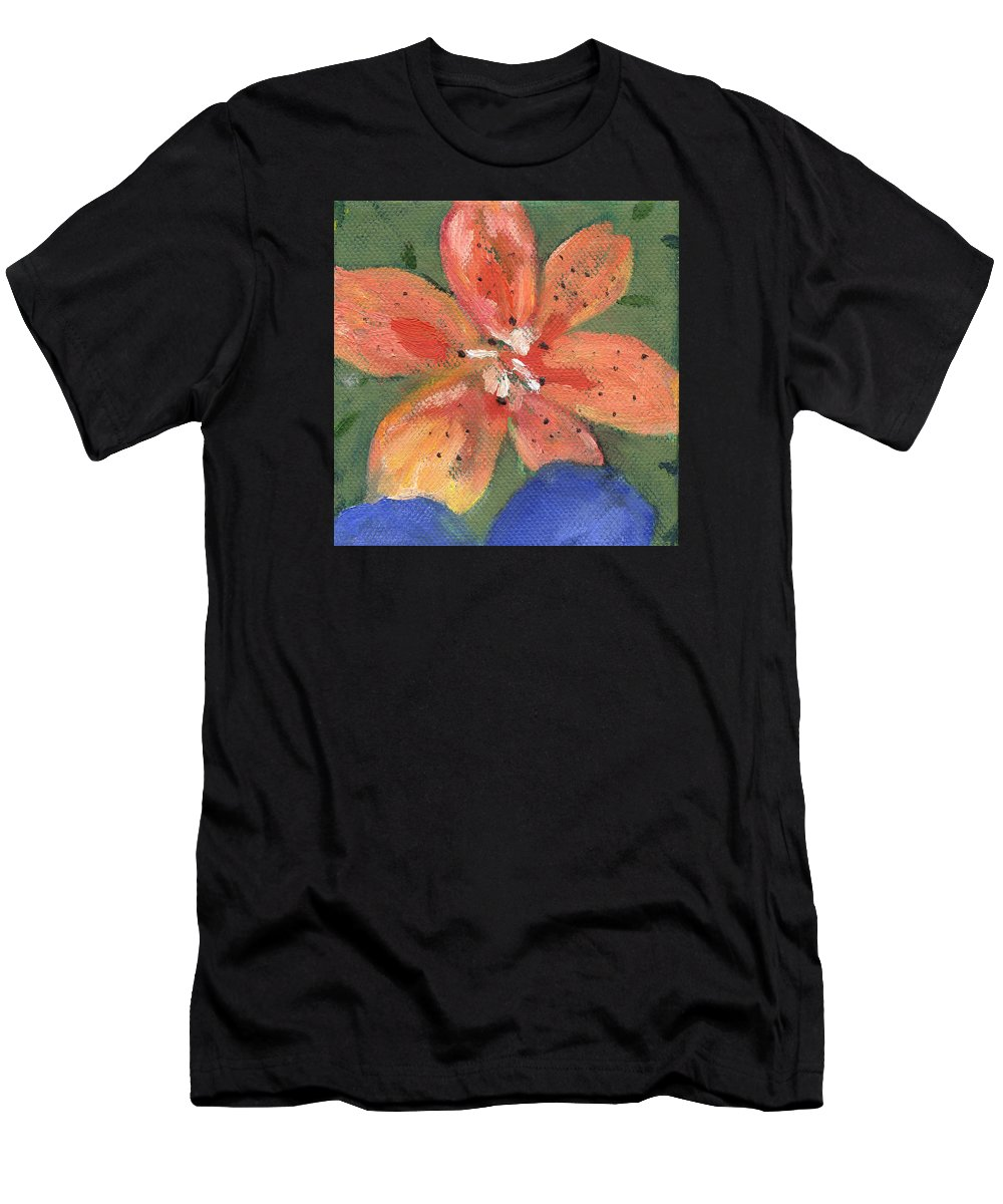 T-Shirt featuring the painting Flower Tigerlily by Kathleen Barnes