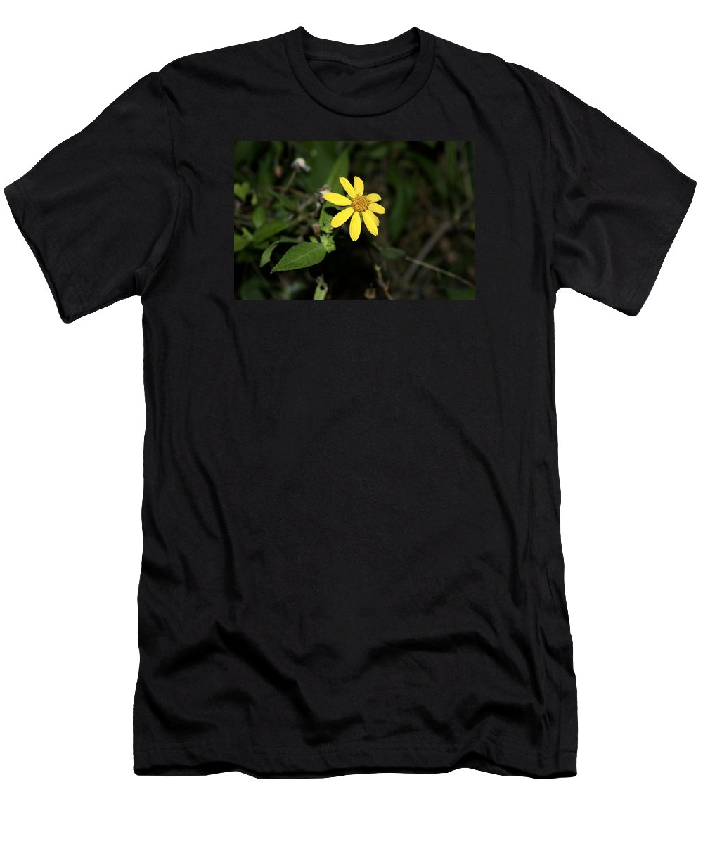 Yellow Men's T-Shirt (Athletic Fit) featuring the photograph Flower by Vivian Bird