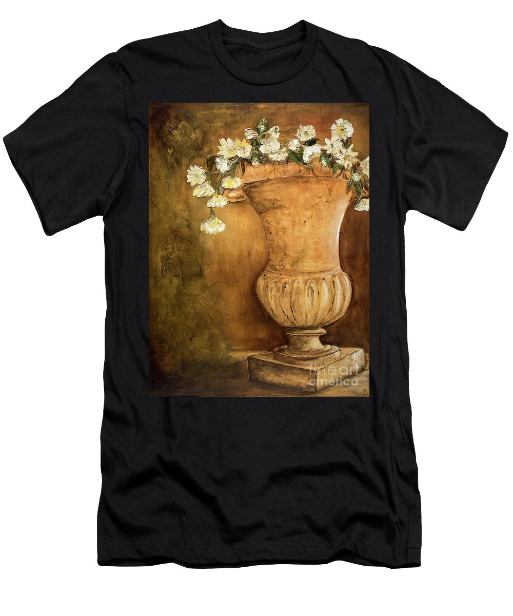 Urn Painting Men's T-Shirt (Athletic Fit) featuring the painting Flowering Urn by Jodi Monahan