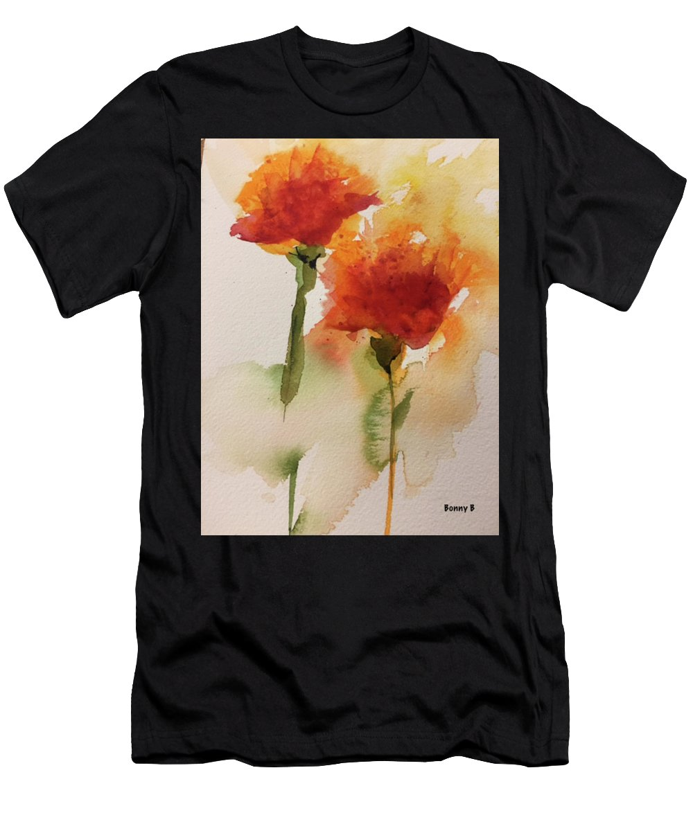 Floral Men's T-Shirt (Athletic Fit) featuring the painting Dance In The Wind by Bonny Butler