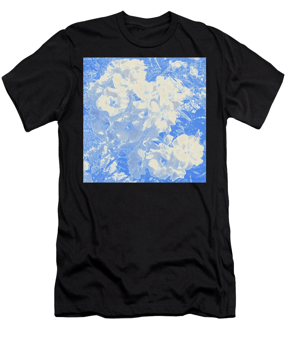 Flowers Men's T-Shirt (Athletic Fit) featuring the digital art Flowers Abstract 2 by Uma Krishnamoorthy