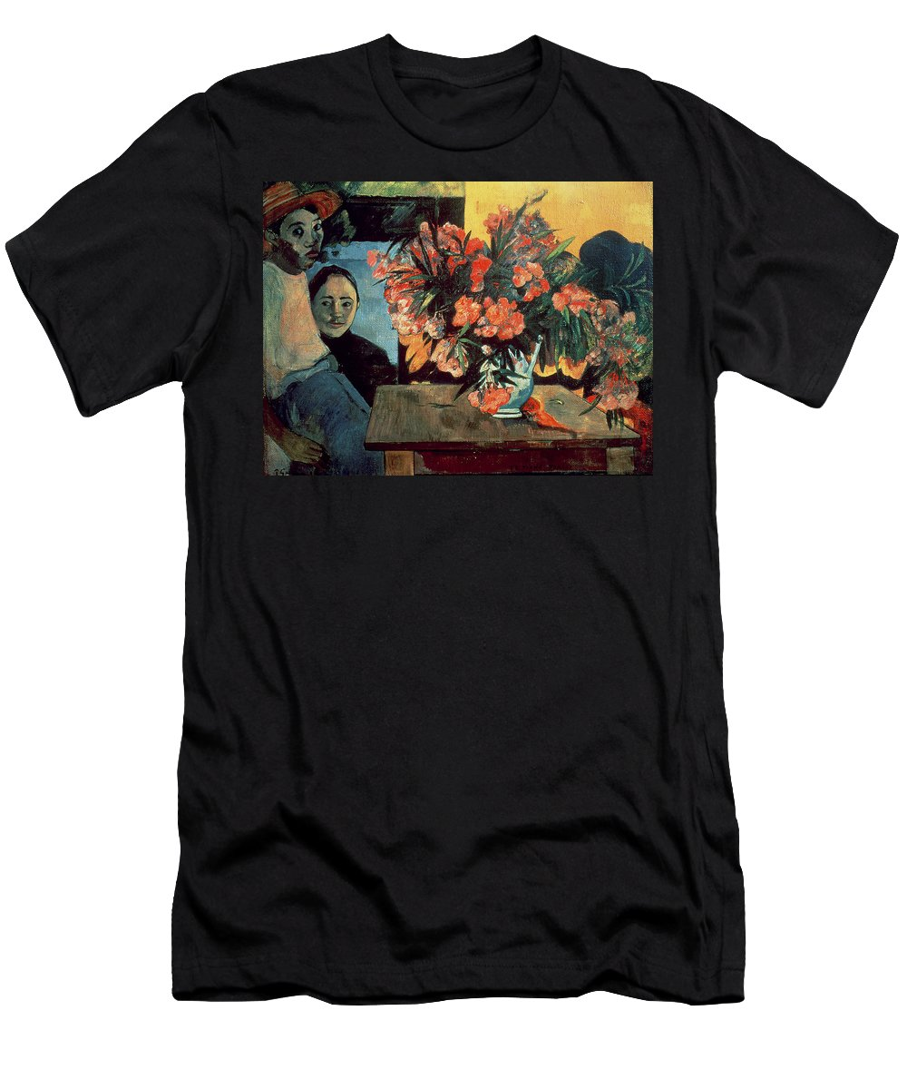 Te Tiare Farani (flowers Of France) Men's T-Shirt (Athletic Fit) featuring the painting Flowers Of France by Paul Gauguin