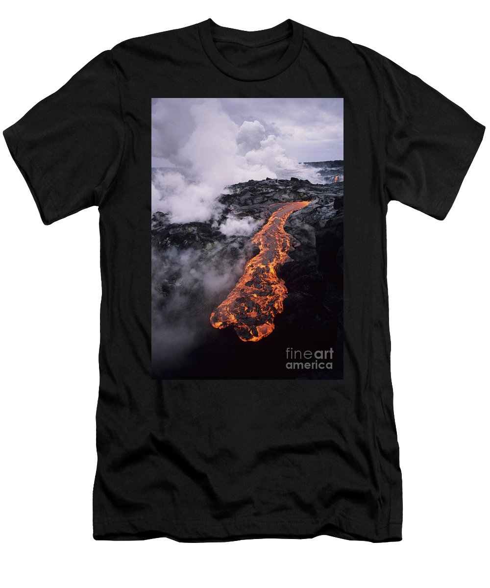 Active Men's T-Shirt (Athletic Fit) featuring the photograph Flowing Towards Ocean by Ron Dahlquist - Printscapes