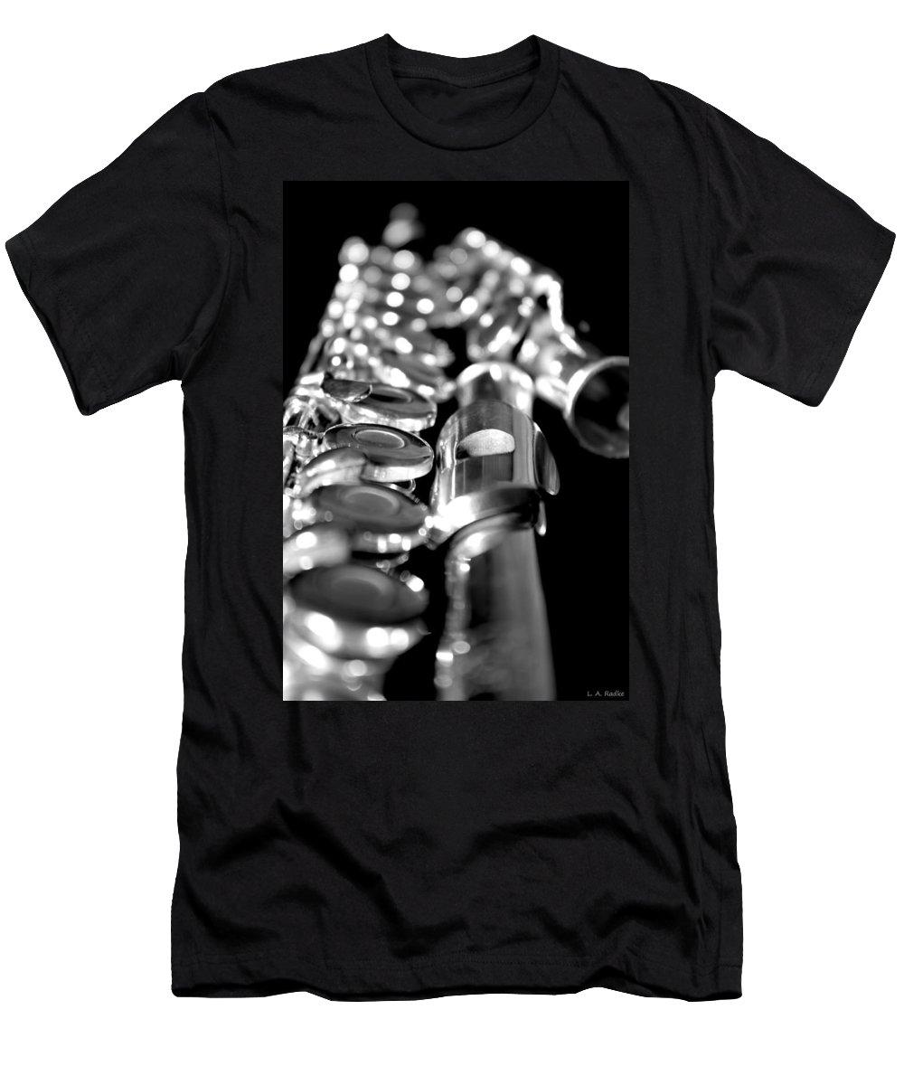 Lauren Radke Men's T-Shirt (Athletic Fit) featuring the photograph Flute Series II by Lauren Radke