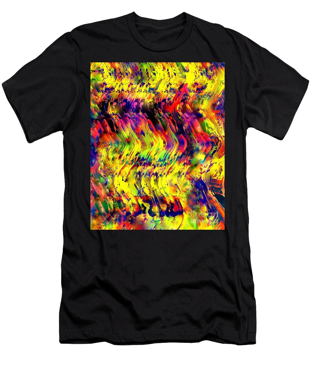 Painting-abstract Acrylic Men's T-Shirt (Athletic Fit) featuring the mixed media Fly High On A Magic Carpet Ride by Catalina Walker