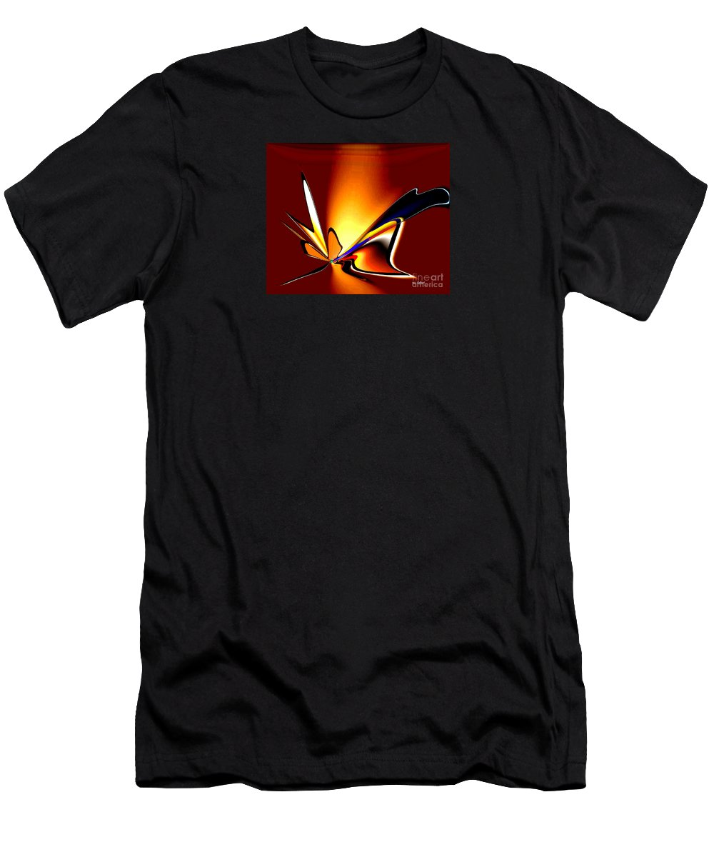 Abstract Men's T-Shirt (Athletic Fit) featuring the digital art Fly With Me by Iris Gelbart