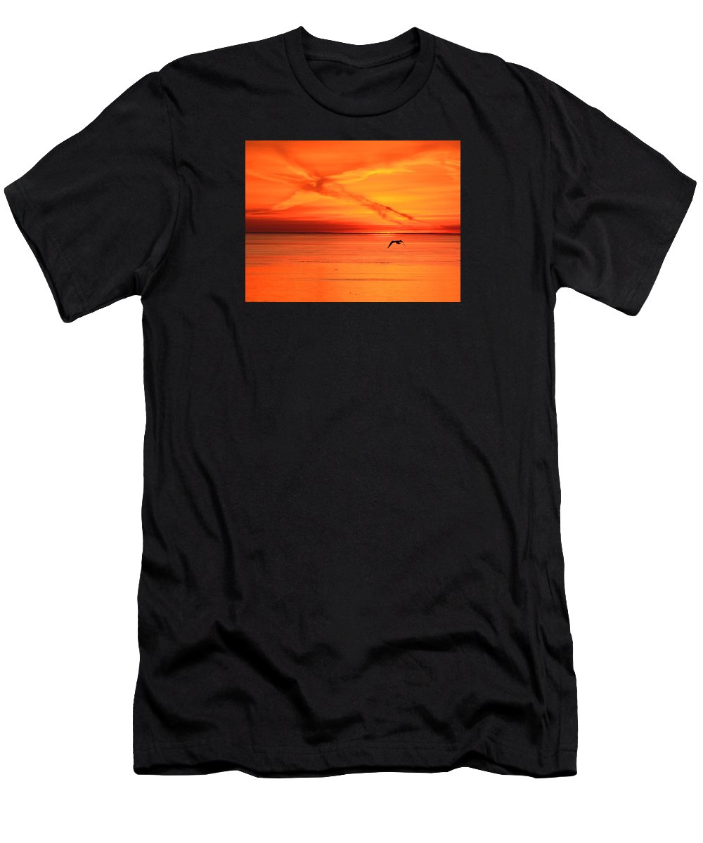 Abstract Men's T-Shirt (Athletic Fit) featuring the photograph Flying East 2 by Lyle Crump