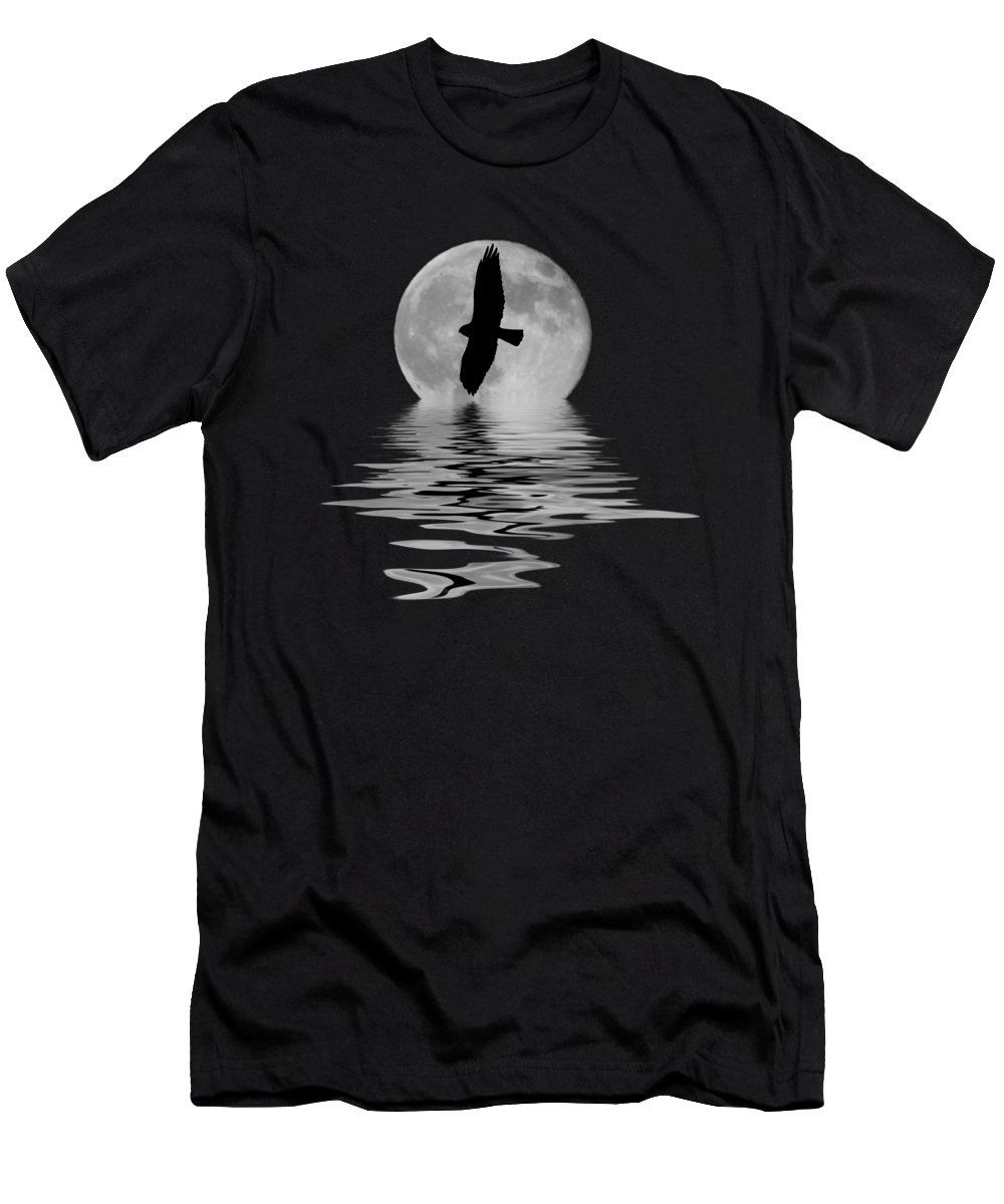 Hawk Men's T-Shirt (Athletic Fit) featuring the photograph Flying Hawk 2 by Shane Bechler