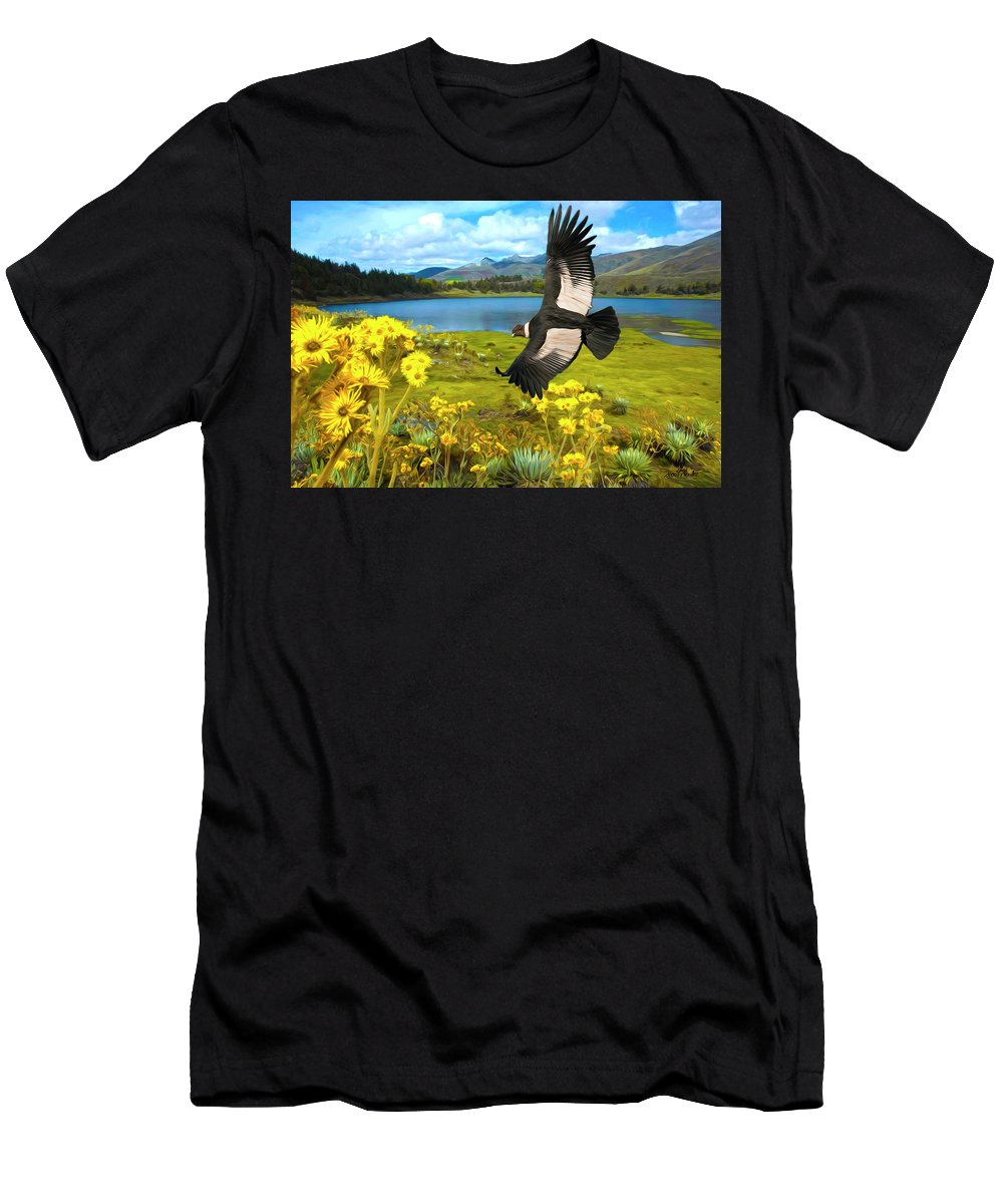 Landscape Men's T-Shirt (Athletic Fit) featuring the digital art Flying His Kingdom by Alexis Mendez