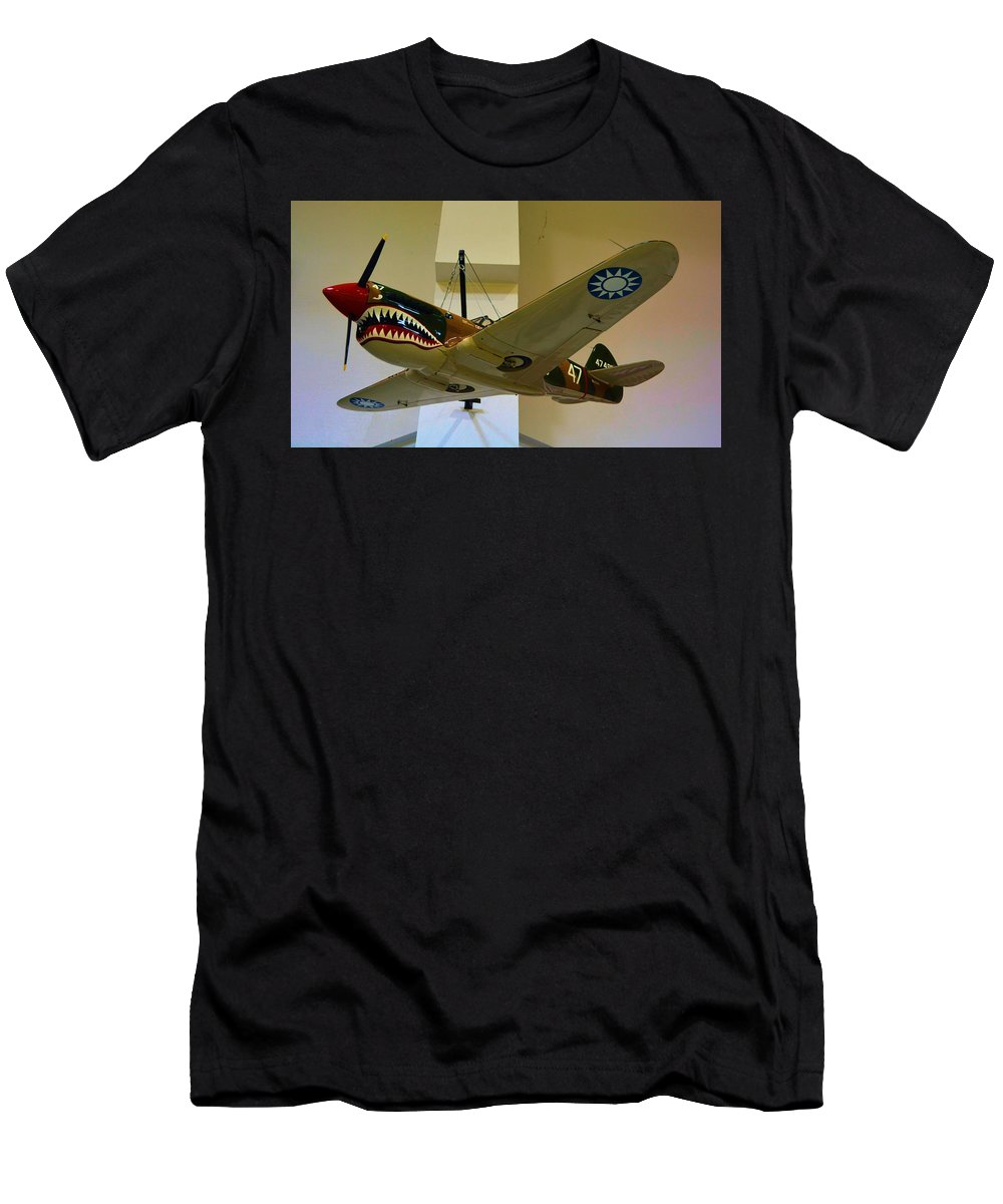 Flying Men's T-Shirt (Athletic Fit) featuring the photograph Flying Tigers Aircraft by Richard Jenkins