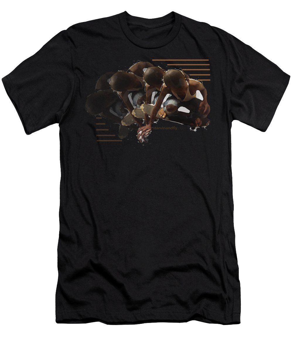 Skateboard Men's T-Shirt (Athletic Fit) featuring the photograph Flying Times by Roz Jackson