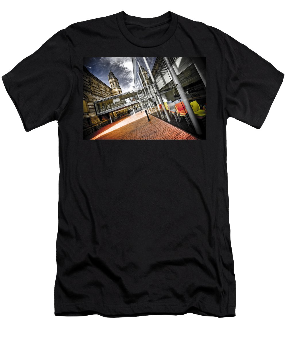 Flyover Men's T-Shirt (Athletic Fit) featuring the photograph Flyover by Wayne Sherriff