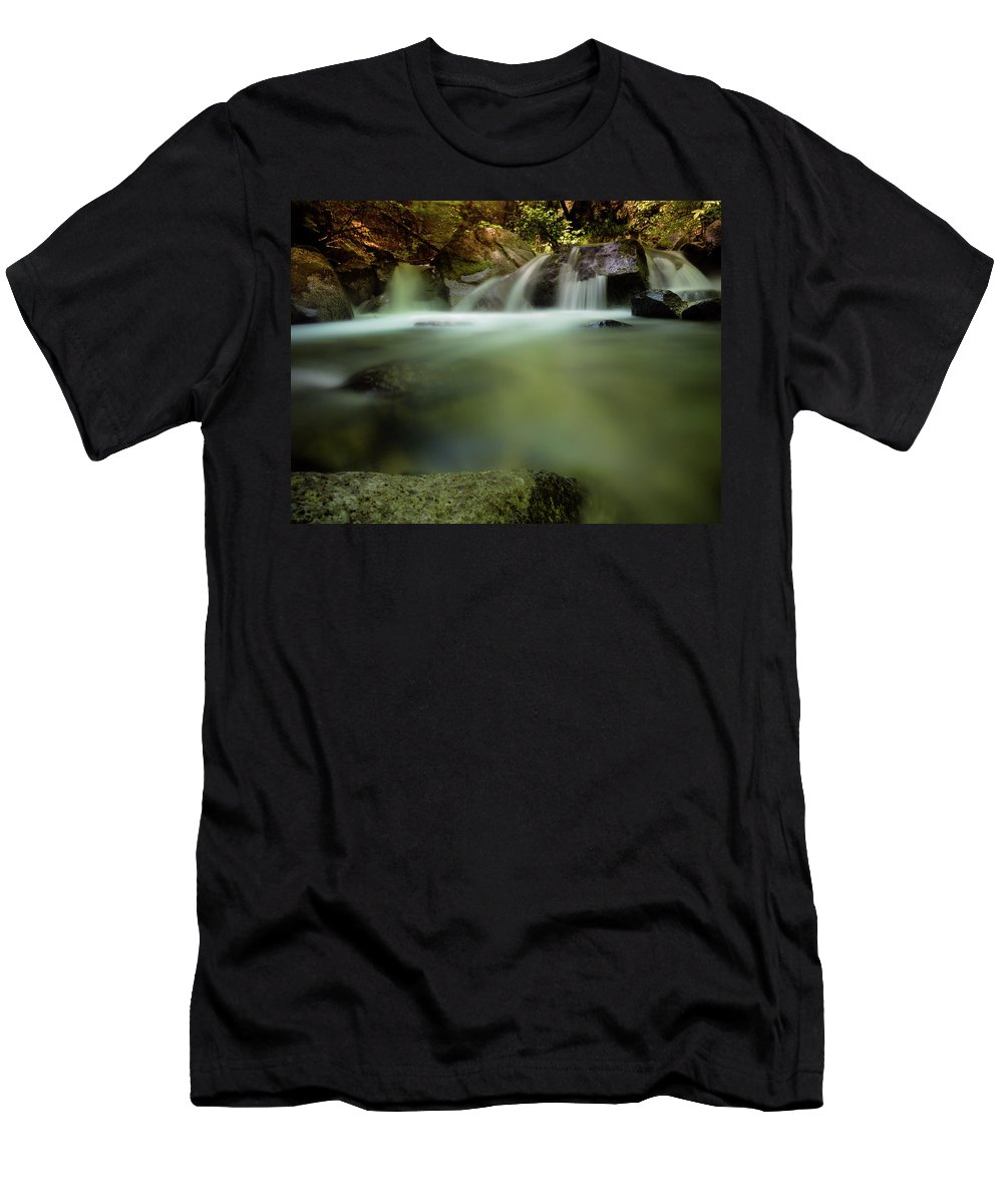 Clear Creek Men's T-Shirt (Athletic Fit) featuring the photograph Follow The Light by Michele James