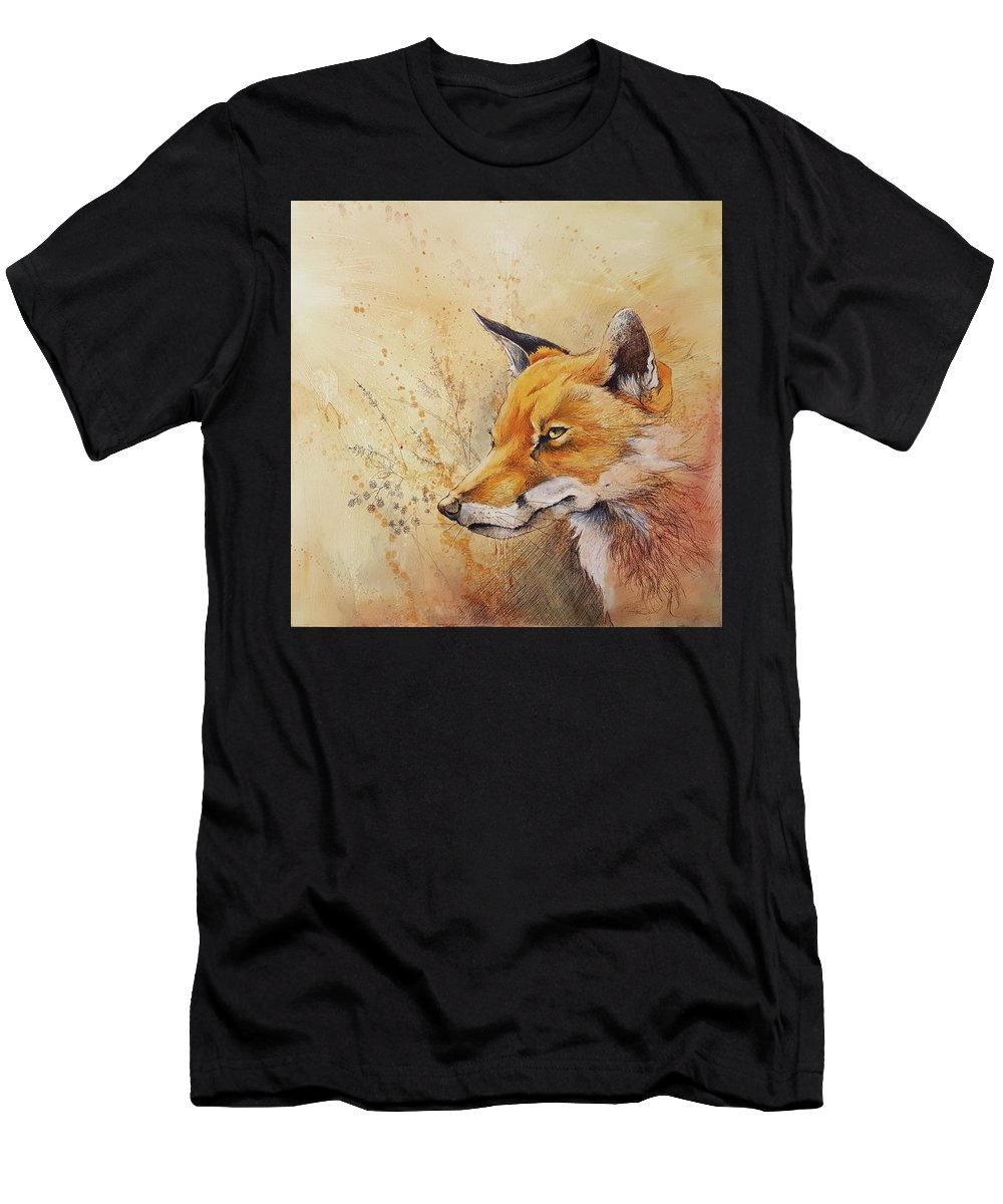 Art Men's T-Shirt (Athletic Fit) featuring the mixed media Foolish Fire by Eric Dull