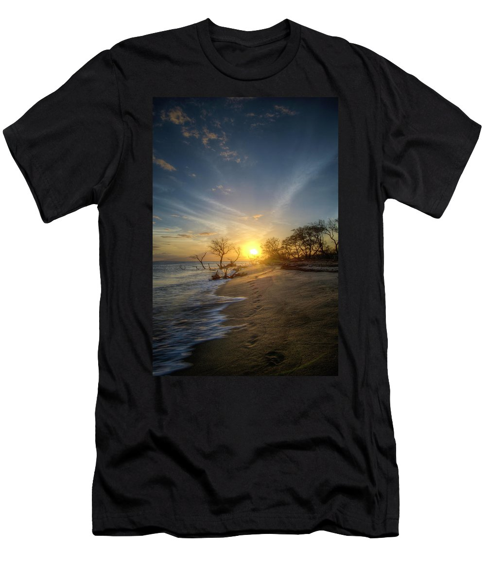 Footprints Men's T-Shirt (Athletic Fit) featuring the photograph Footprints by John Coffey
