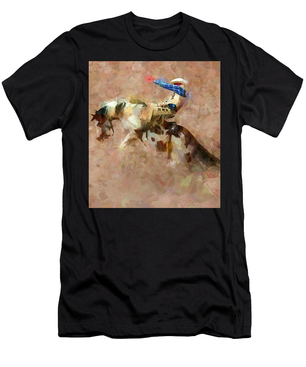 Bronc Men's T-Shirt (Athletic Fit) featuring the photograph For A Moment by John Freidenberg