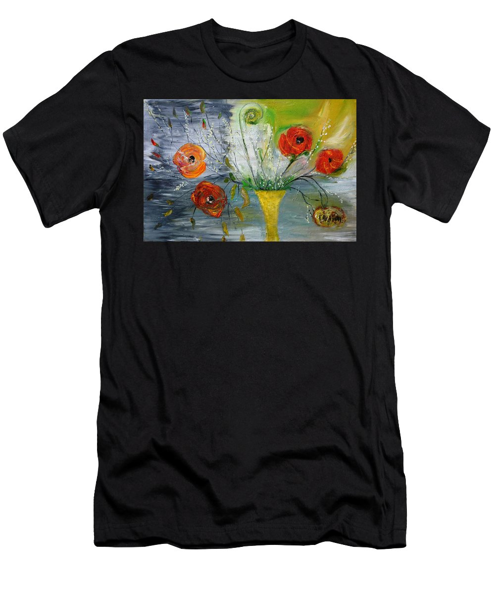 Floral Men's T-Shirt (Athletic Fit) featuring the photograph For Mom by Evelina Popilian