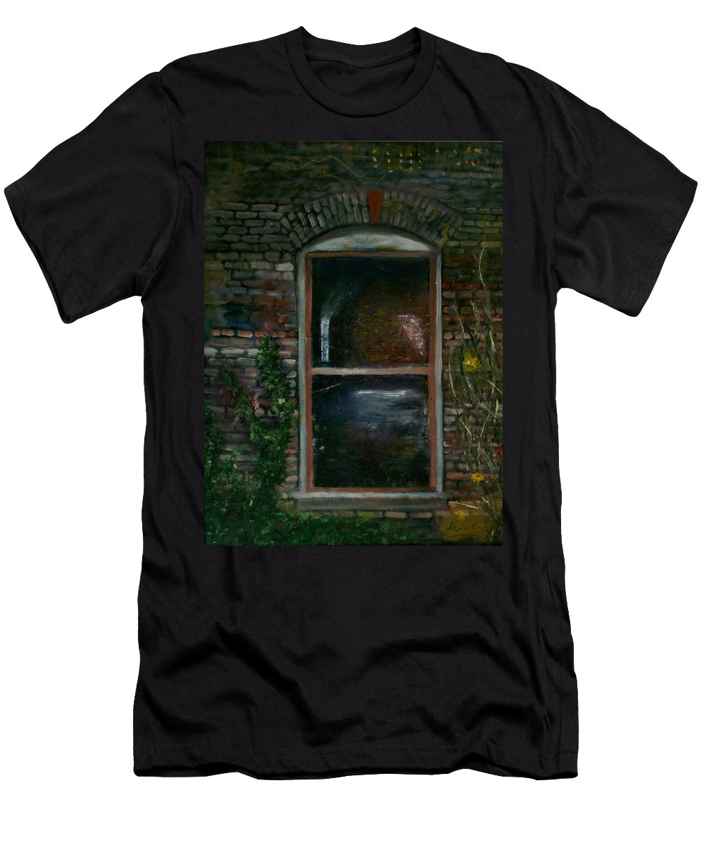 Landscape Men's T-Shirt (Athletic Fit) featuring the painting For Rent by Stephen King