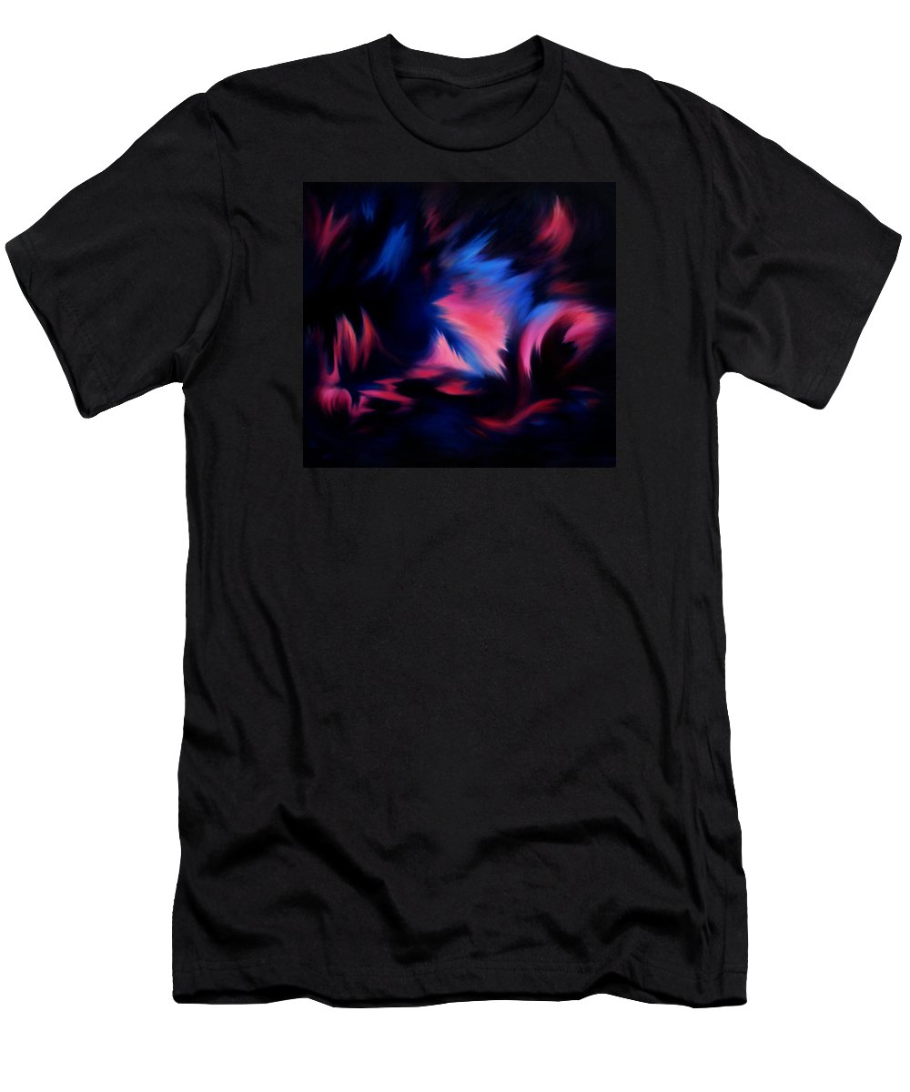 Abstract Men's T-Shirt (Athletic Fit) featuring the painting Forbidden Words by Rachel Christine Nowicki