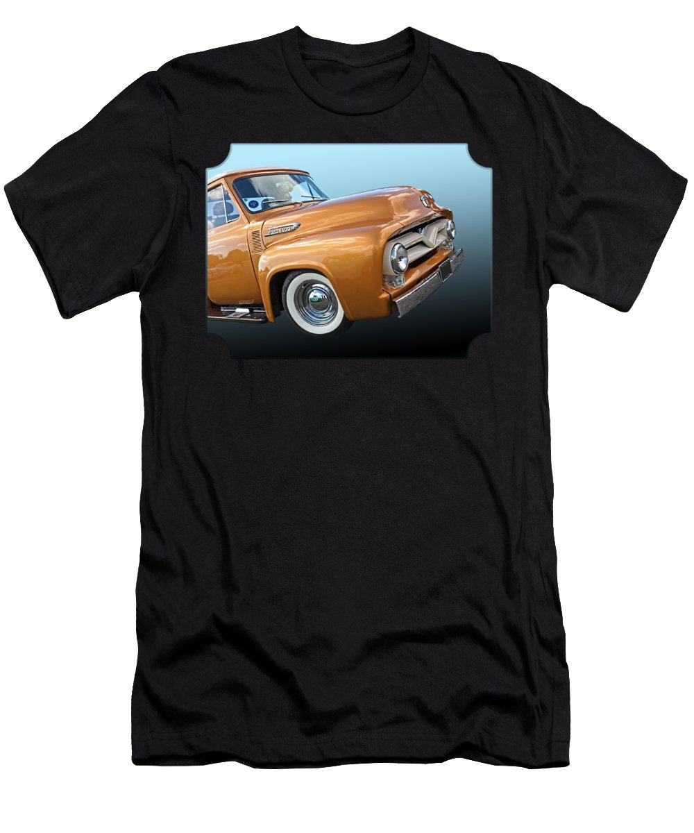 Ford F100 1955 In Bronze T Shirt For Sale By Gill Billington Mens Athletic Fit Featuring The Photograph