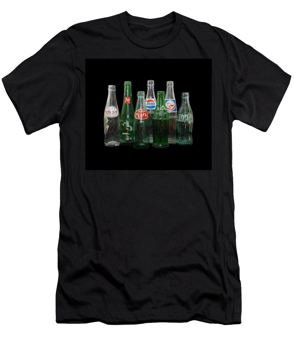 Pepsi Men's T-Shirt (Athletic Fit) featuring the photograph Foreign Cola Bottles by Rob Hans