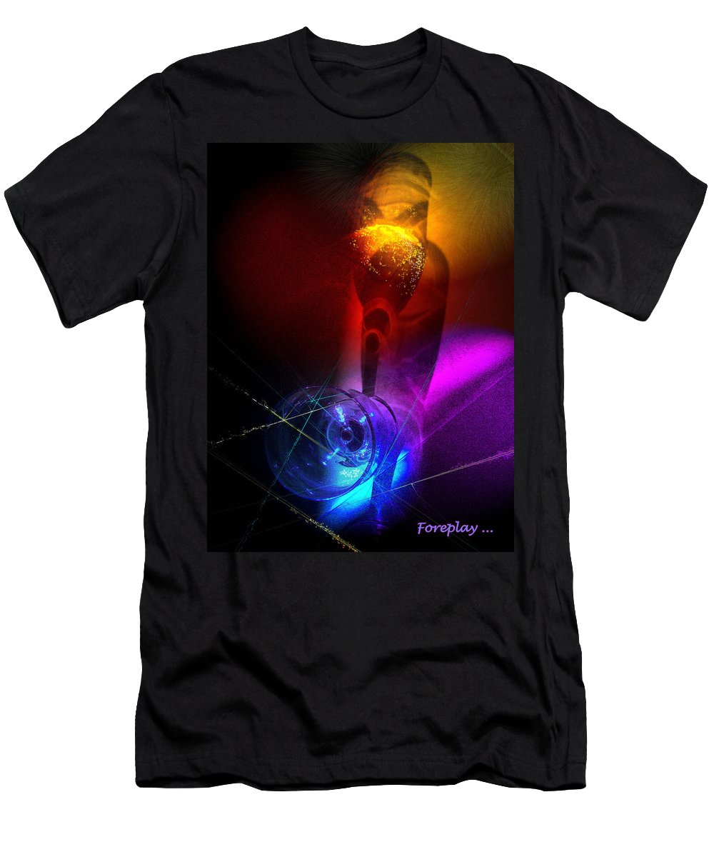 Fantasy Men's T-Shirt (Athletic Fit) featuring the photograph Foreplay by Miki De Goodaboom