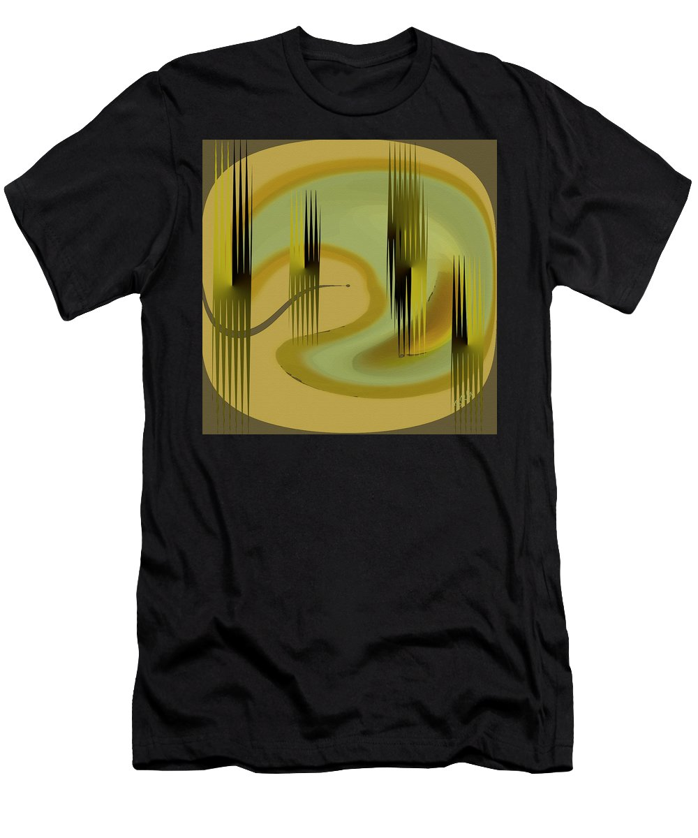 Abstract Forest Men's T-Shirt (Athletic Fit) featuring the digital art Forest by Ben and Raisa Gertsberg