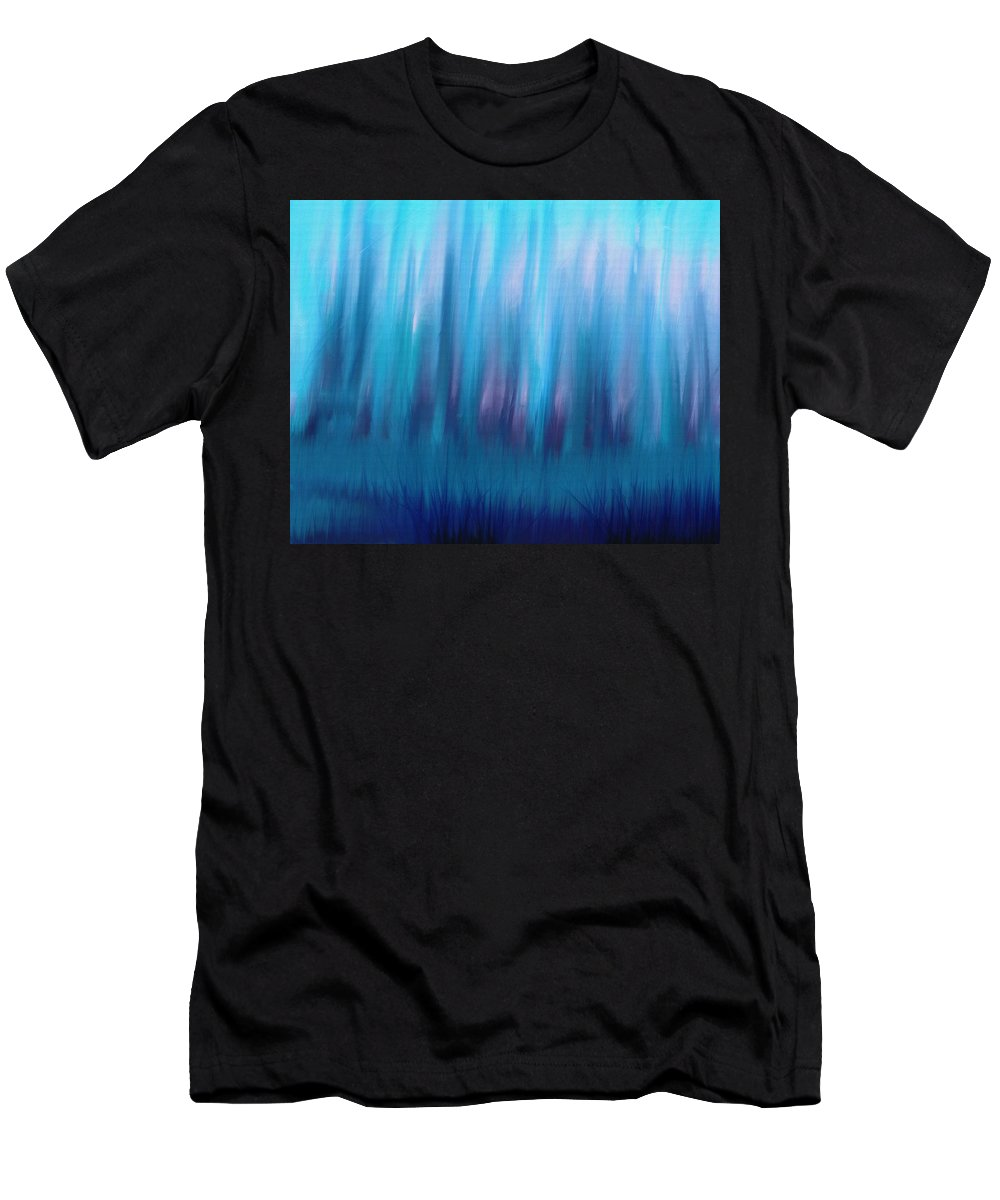 Abstract Men's T-Shirt (Athletic Fit) featuring the painting Forest by D A Diggs