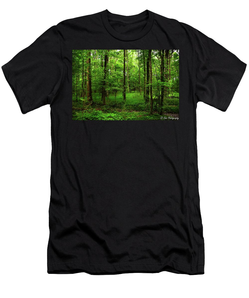 Forest Men's T-Shirt (Athletic Fit) featuring the photograph Forest Greenery by Soni Macy