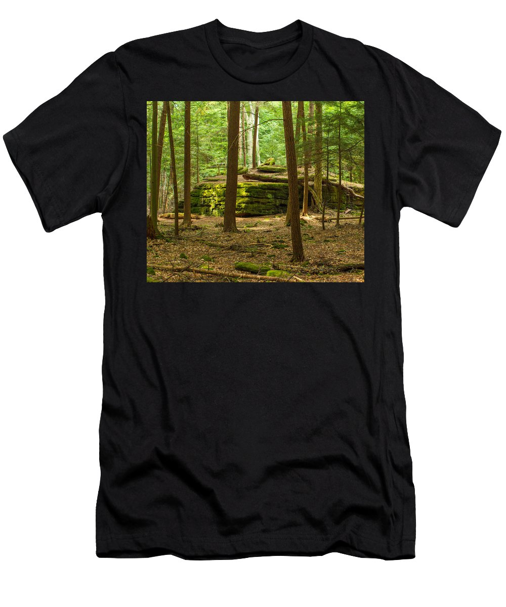 Forest Men's T-Shirt (Athletic Fit) featuring the photograph Forest Guardian by Bob Srdoch