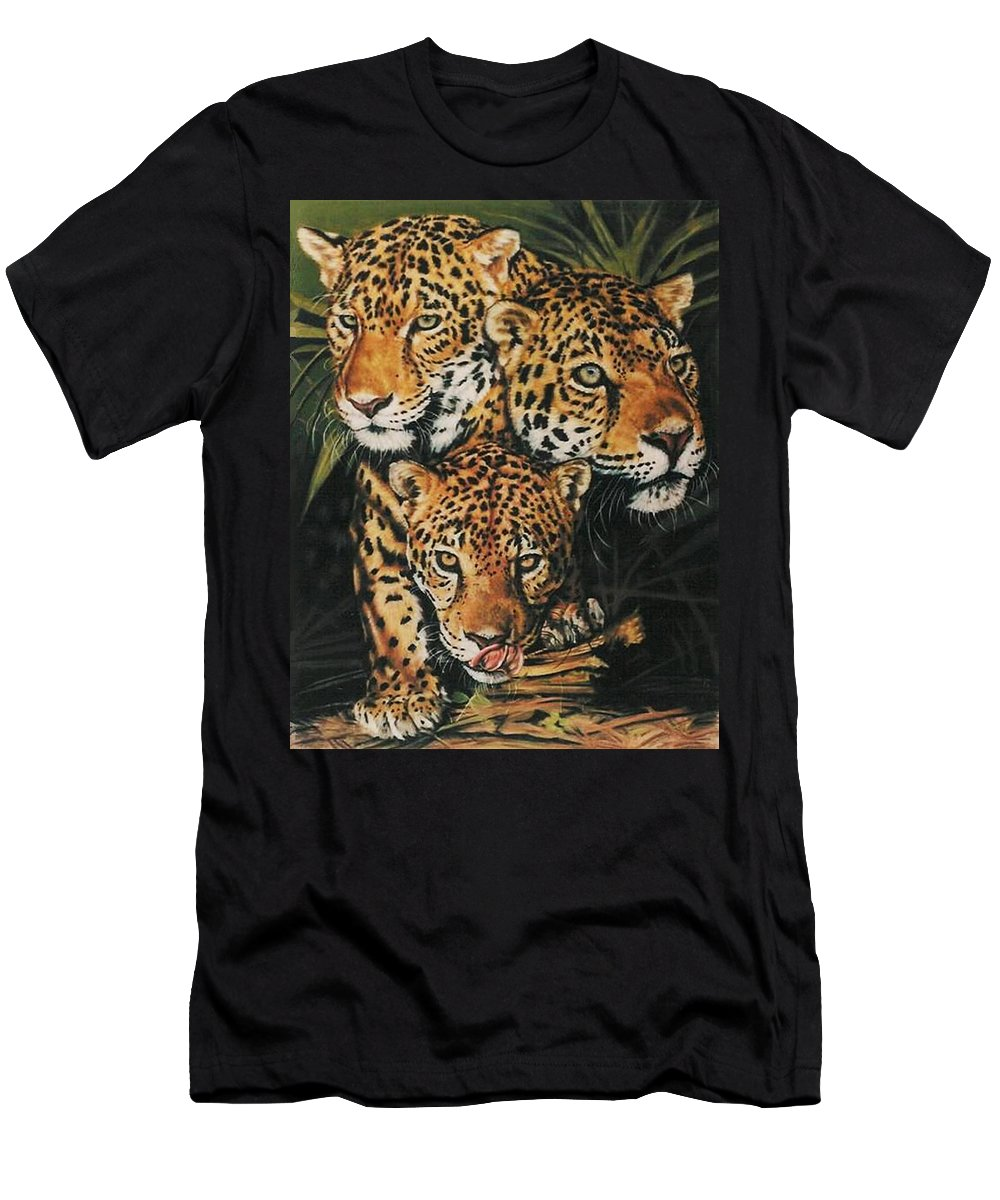 Jaguar Men's T-Shirt (Athletic Fit) featuring the pastel Forest Jewels by Barbara Keith