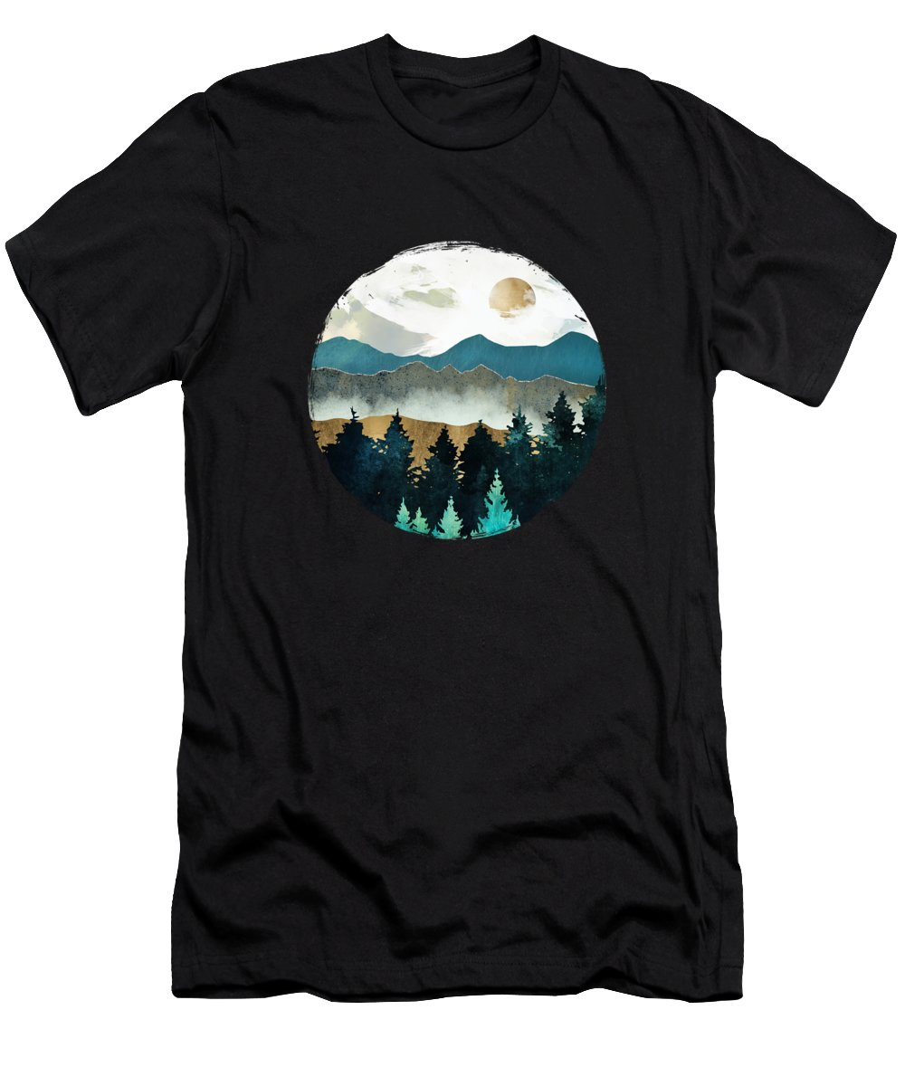 Forest T-Shirt featuring the digital art Forest Mist by Spacefrog Designs