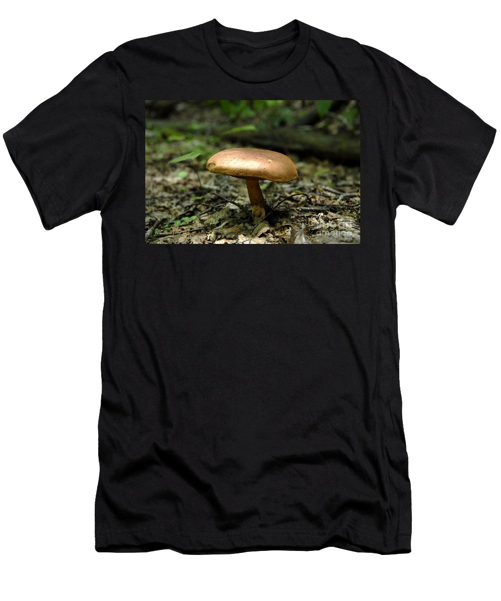 Forest Men's T-Shirt (Athletic Fit) featuring the photograph Forest Mushroom by David Lee Thompson