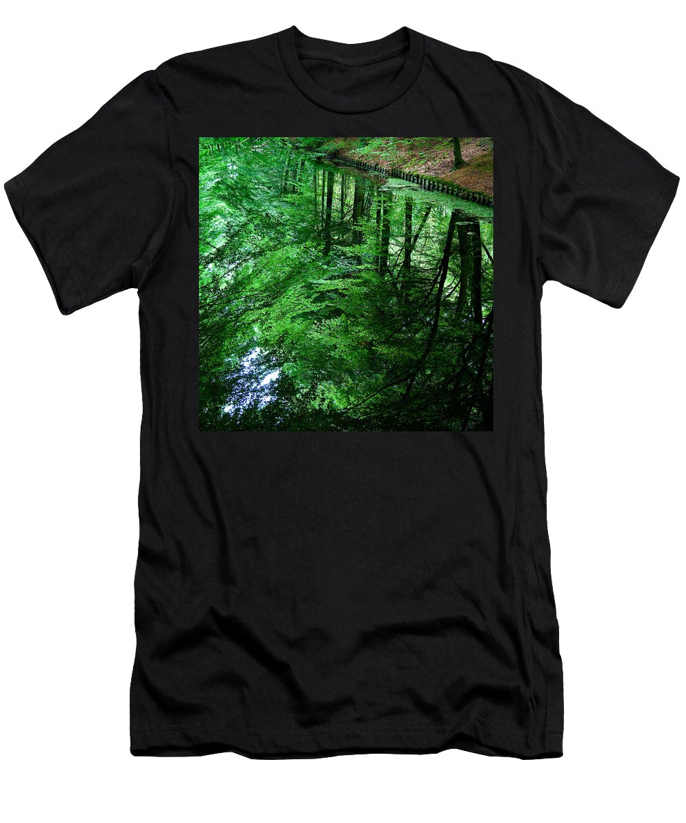 Forest Men's T-Shirt (Athletic Fit) featuring the photograph Forest Reflection by Dave Bowman
