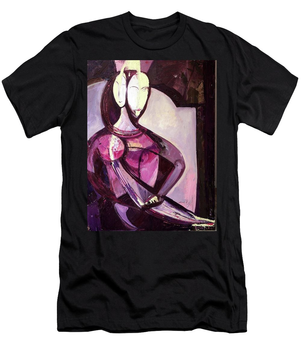 Together Men's T-Shirt (Athletic Fit) featuring the painting Forever Together by Daria Babich