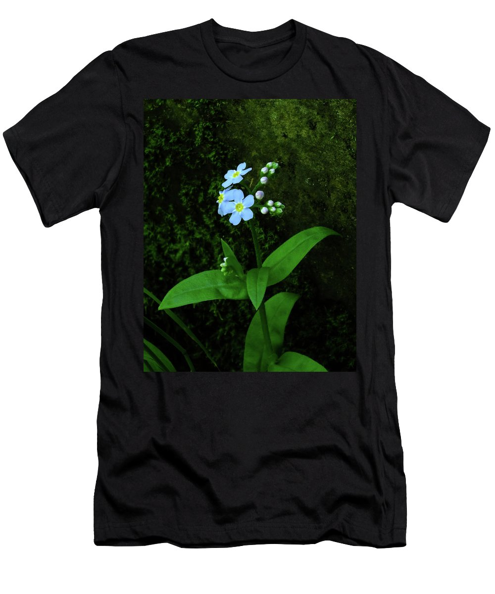 Flowers Men's T-Shirt (Athletic Fit) featuring the photograph Forget-me-not by Bill Morgenstern